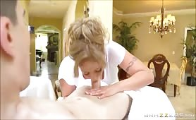 Little Buddy With Big COCK Fuck a Blonde Milf