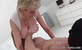 British mature lady sonia cheating on her husband