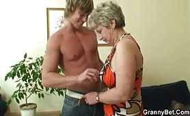 Young stud bangs sixty  years old woman