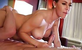 Super   sexy Nicole Aniston teases and fucks