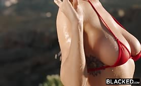 Kendra Sunderland on vacation fucked by monster black cock